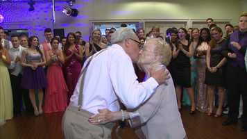 Montour High School junior and senior students cheered on the Lampings during their first dance, screaming loudly when Joe leaned in for a kiss and then broke out in a solo dance of his own.