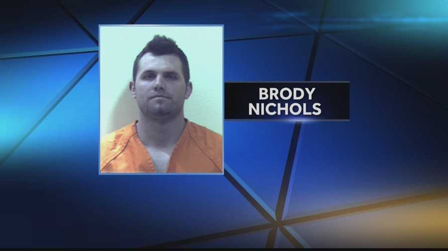 Police say they believe 30-year-old Brody Nichols was the driver. They say he will face charges that include aggravated assault, trespassing and theft.