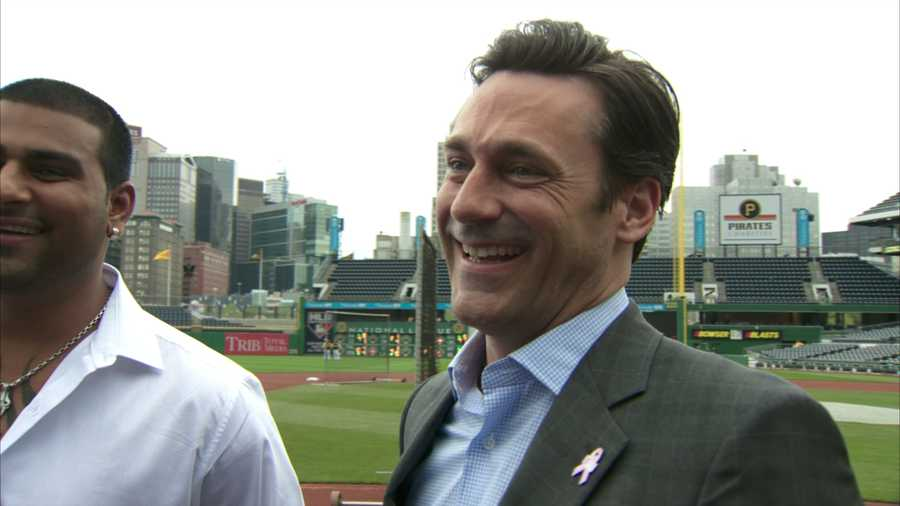 """""""It's absolutely gorgeous. I can't get over it. It's such a beautiful view,"""" Hamm said of PNC Park."""
