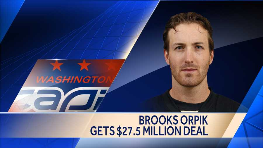 Brooks Orpik, who had been the longest-tenured player on the Penguins roster, signed a five-year deal worth $27.5 million with the Washington Capitals.