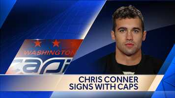 Forward Chris Conner signed a one-year, two-way contract with the Washington Capitals.