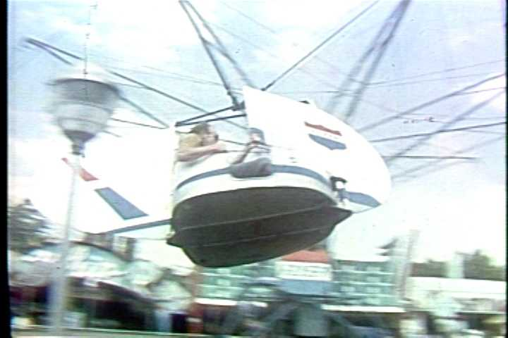 The Phantom Flyer ride at Kennywood in the 1960s.