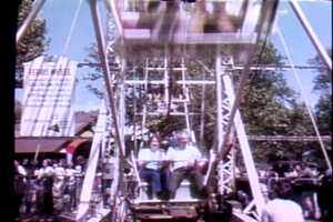 Riding the Ferris Wheel in 1972.