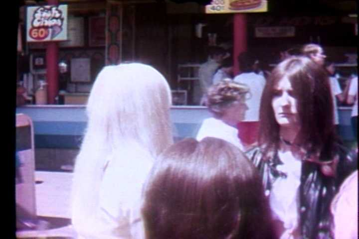Near the hot dogs and the fish and chips stands in 1972.