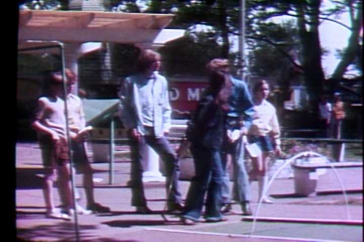 Playing miniature golf in 1972.