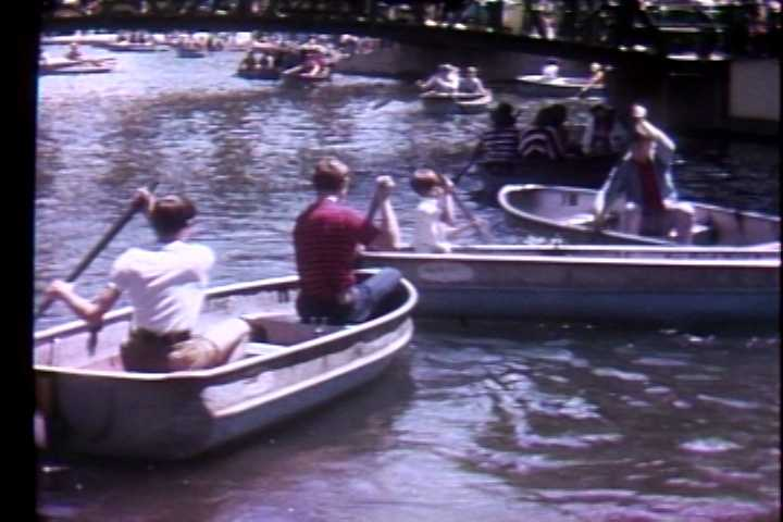Rowboats on the Kennywood pond in 1972.