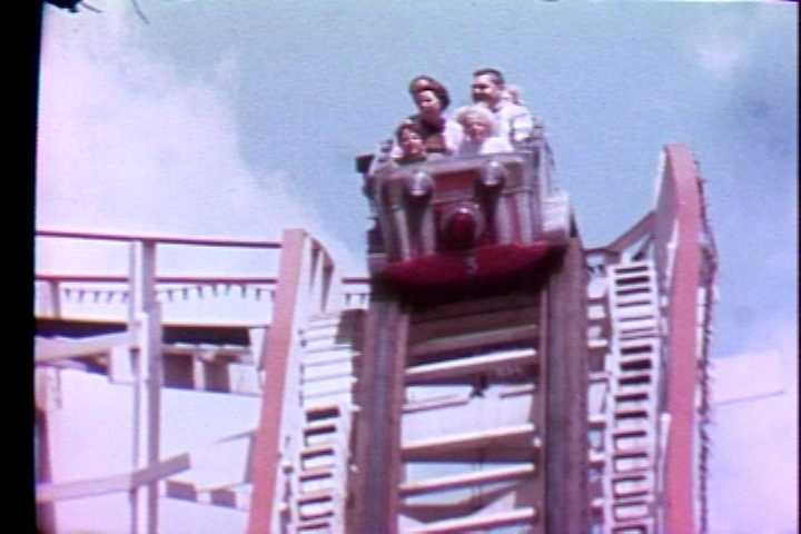 The Thunderbolt roller coaster at Kennywood Park in 1972.