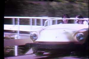 Riding the Turnpike at Kennywood Park in 1972.