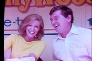 Nan Chapman and Bill Hillgrove on WTAE Day at Kennywood Park in 1979.