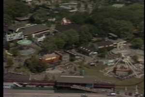 An aerial view of Kennywood Park in 1985.