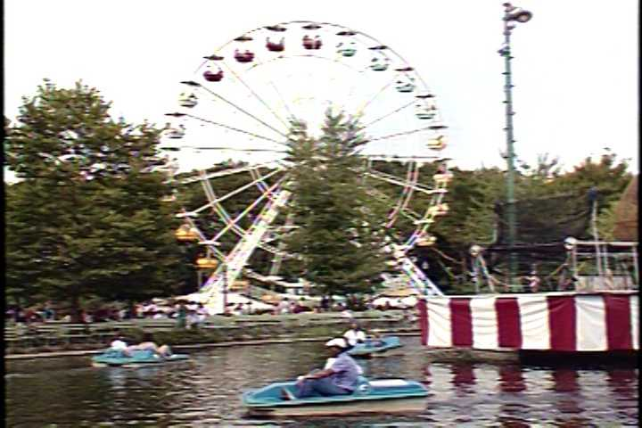 The paddle boats and the ferris wheel in 1987.