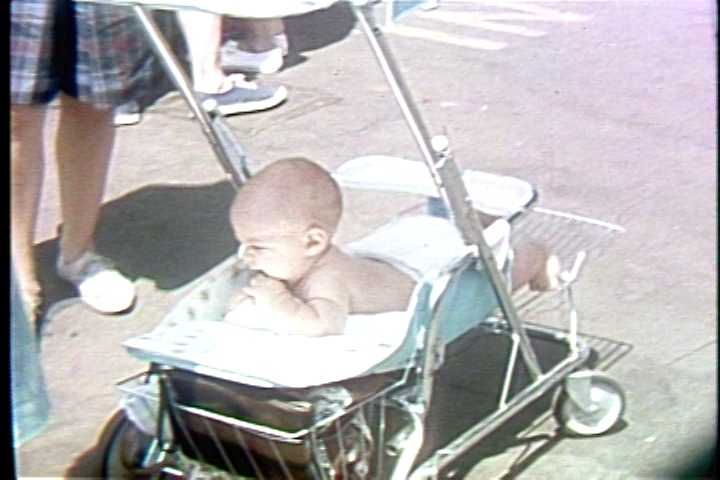 A baby at Kennywood Park in the 1960s.