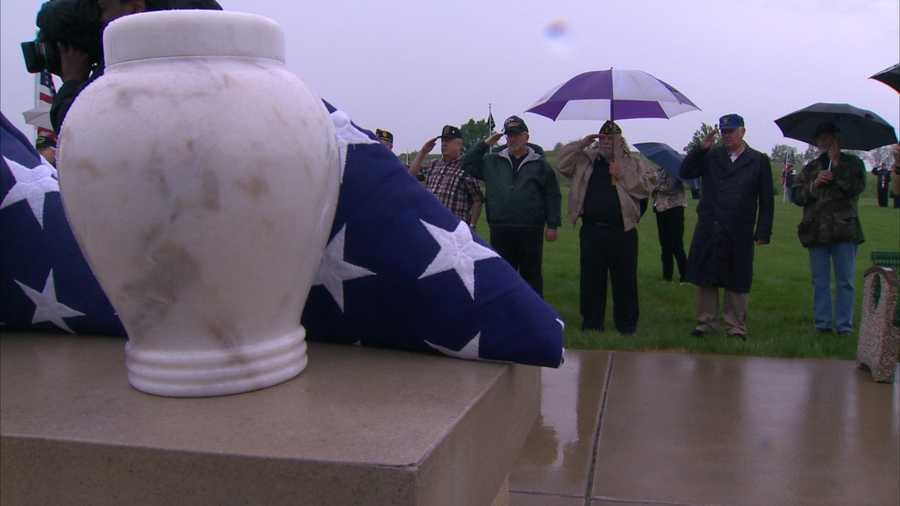 """""""He's been sitting at Steve Slaters Mortuary for the past nine years,"""" said Carole Scagline from Washington County. Her uncle, Mike Myers, was a U.S. Army veteran who fought in World War II."""