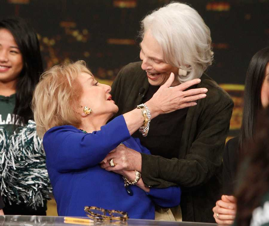 """Broadcasting legend Barbara Walters says goodbye to daily television with her final co-host appearance on THE VIEW,on May 16, 2014. A surprise appearance from Oprah Winfrey leads to one historic, monumental television event when Winfrey does a landmark roll call of introducing 25 incredible female journalists who were influenced by Barbara Walters. Plus the day earlier, for the first time in television history, all 11 co-hosts of ABC's """"The View,"""" present and past, shared the same stage, live."""