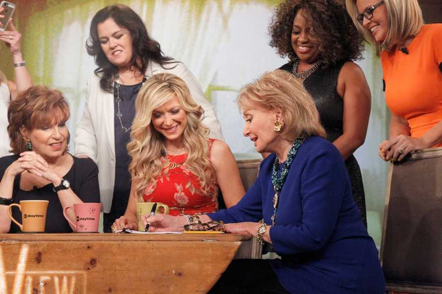 """For the first time in television history, all 11 co-hosts of ABC's """"The View,"""" present and past, shared the same stage, live, THURSDAY, MAY 15 on ABC to celebrate the show's creator Barbara Walters. Walters is the last remaining co-host of the original panel of five women she helped assemble. """"The View"""" airs Monday-Friday (11:00 a.m.- 12 noon, ET) here WTAE Channel 4."""