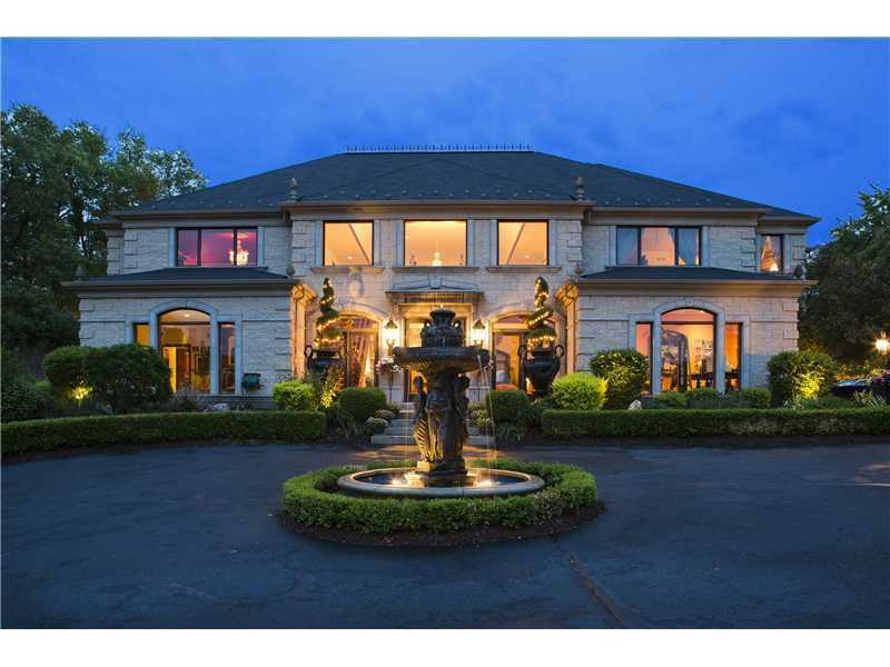 From the glass door wine cellar to the grand entrance, this home features many unique touches to make for a special home. The estate includes four bedrooms and six bathrooms, and is featured on realtor.com for $1.295 million.