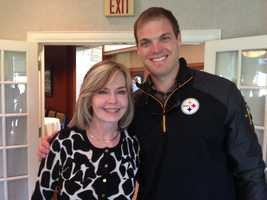 And Steelers long snapper Greg Warren is always here supporting the Caring Place!