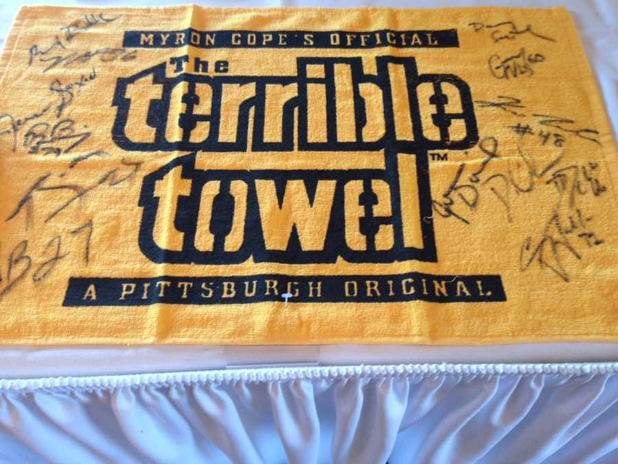 And what would a fundraiser be without The Terrible Towel?!?