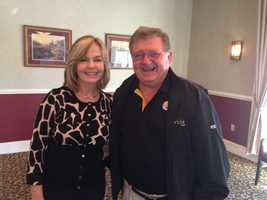 Pittsburgh's Action News 4 anchor Sally Wiggin and the Voice of the Steelers Bill Hillgrove