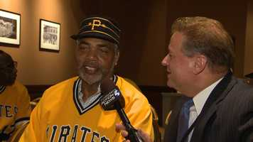 """Dave Parker and Pittsburgh's Action Sports anchor Guy Junker (Click here to watch Guy's interview with """"the Cobra"""")"""