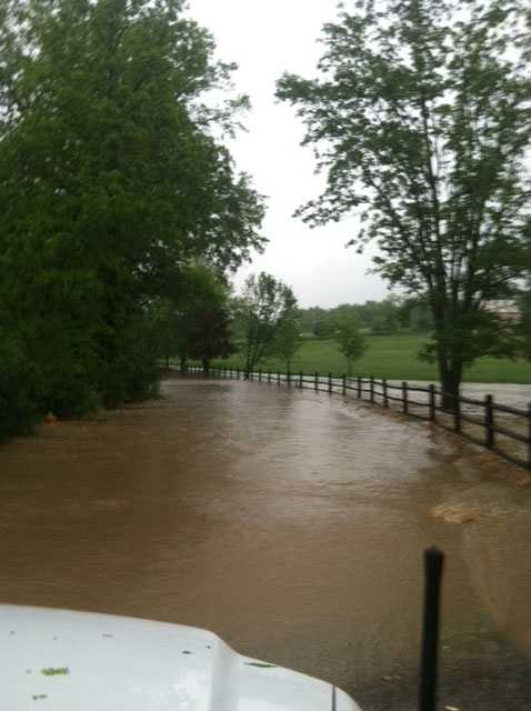 Flooding on Sundust Road in Eighty Four