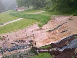 Flooding in Sutersville, Westmoreland County