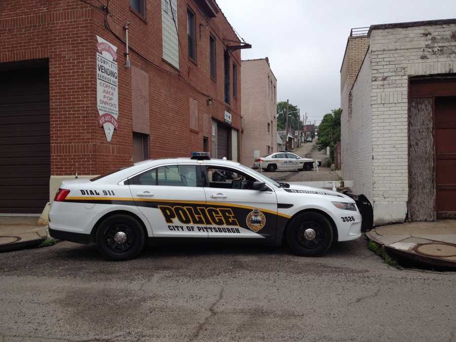 Pittsburgh police pulled large bags full of marijuana out of a commercial building where they suspect a growing lab was operating in Lawrenceville.