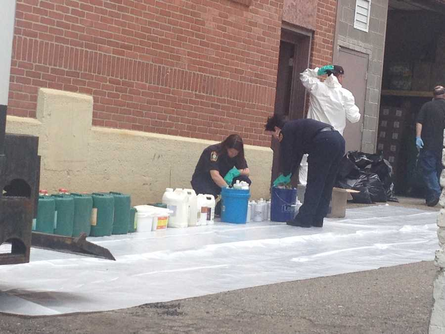 These chemicals were removed from the suspected marijuana grow lab.