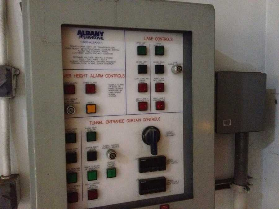 These are the buttons that shut down the Squirrel Hill Tunnel lanes.
