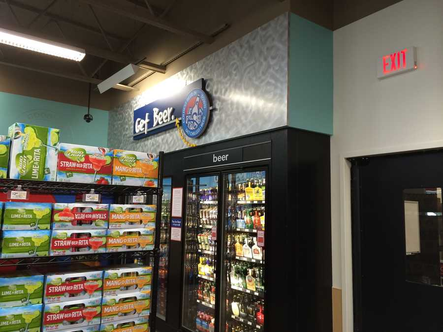 A new GetGo that opened Monday on Route 51 in Forward Township, Allegheny County, is the first of the 91 Giant Eagle-owned locations in Pennsylvania to sell beer.