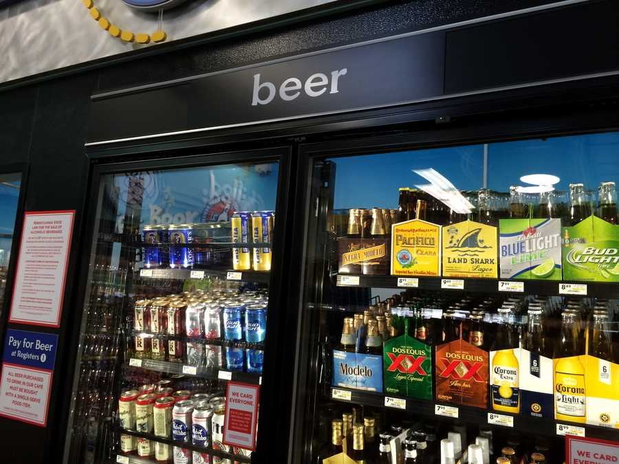 More than 100 domestic, craft and imported bottles will be available for sale in a walk-in beer cave that will be open seven days a week at the new convenience store.