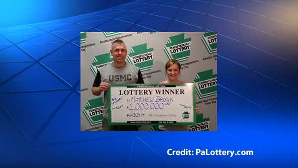 The Pennsylvania Lottery posted this photo of Matthew Brown, who bought a winning Powerball ticket worth $1 million.