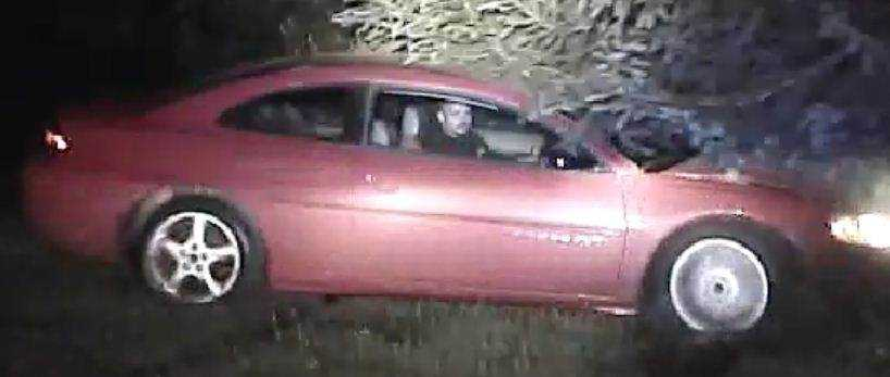 State police said the car is believed to be a red/burgundy two-door Dodge Stratus RT. They said charges will be filed against this man if they are able to identify him.