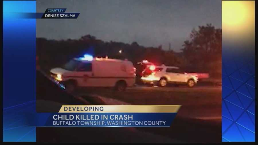 Police said Dominic Rush was a passenger in a rollover crash near the Taylorstown exit on Interstate 70 in Buffalo Township, Washington County.