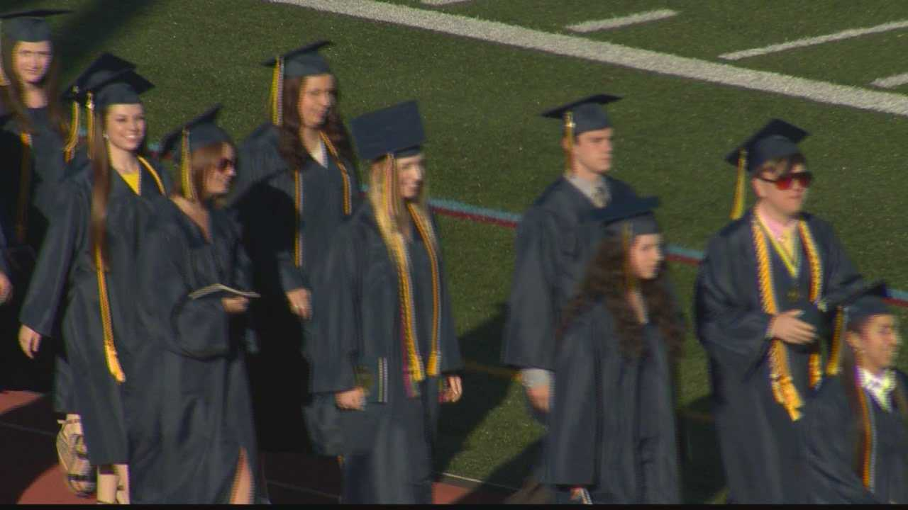 The Class of 2014 graduates from Franklin Regional High School in Murrysville.