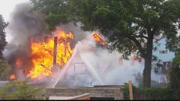 Nine houses were damaged or destroyed in a fast-moving fire Sunday on Ormsby Street in Mount Oliver.