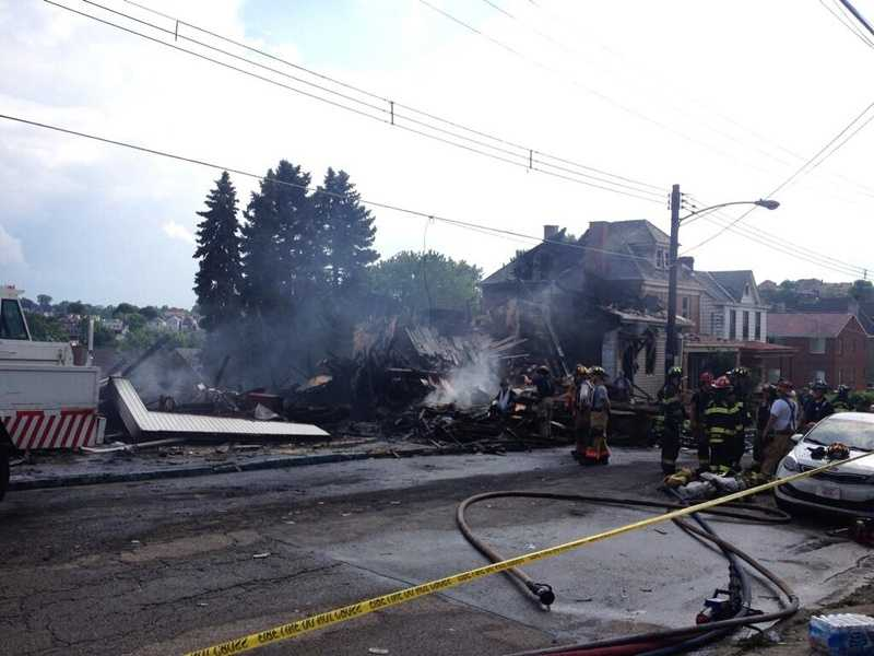 As of Sunday afternoon, the American Red Cross said it was helping 39 adults and nine children after the devastating fire in Mount Oliver.