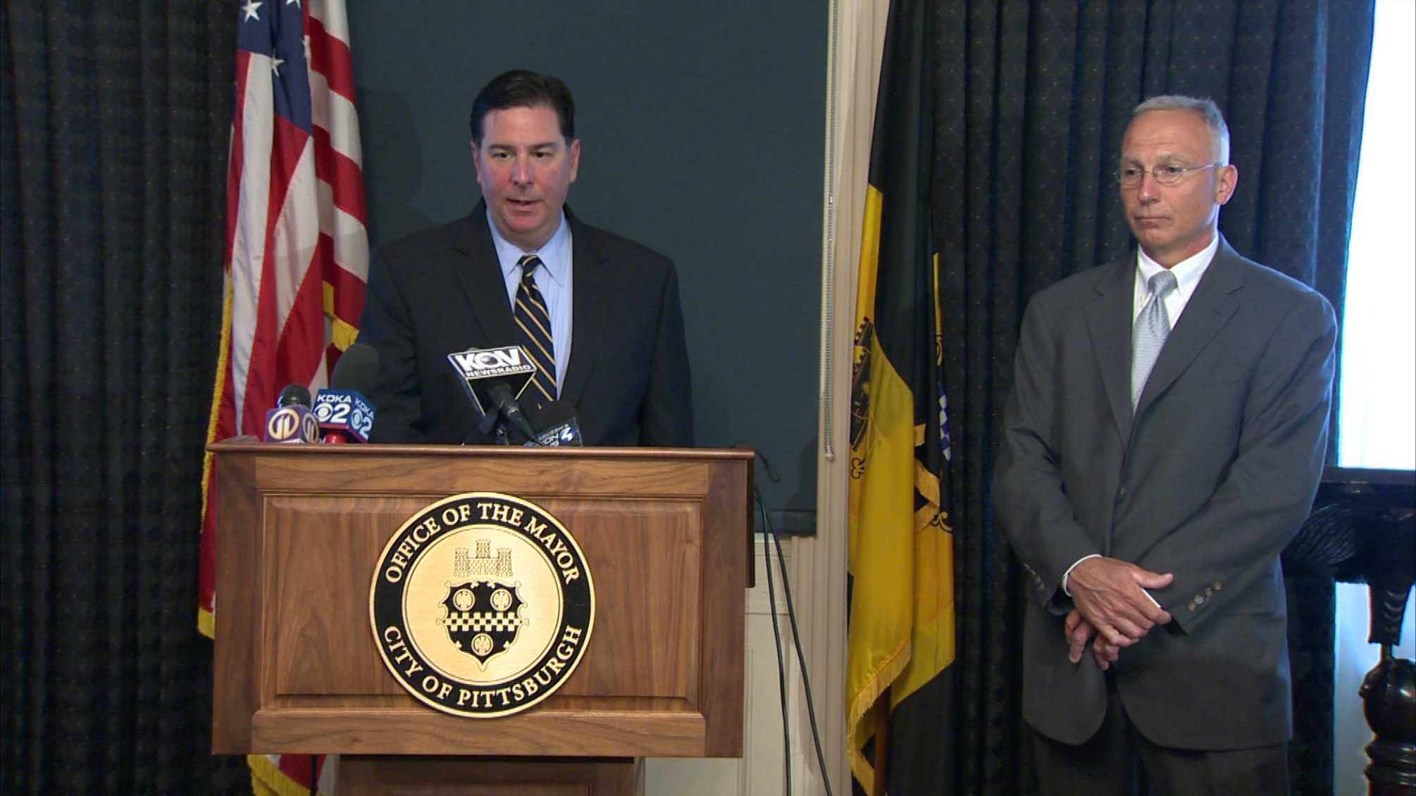 Mayor Bill Peduto and new Public Safety Director Stephen Bucar