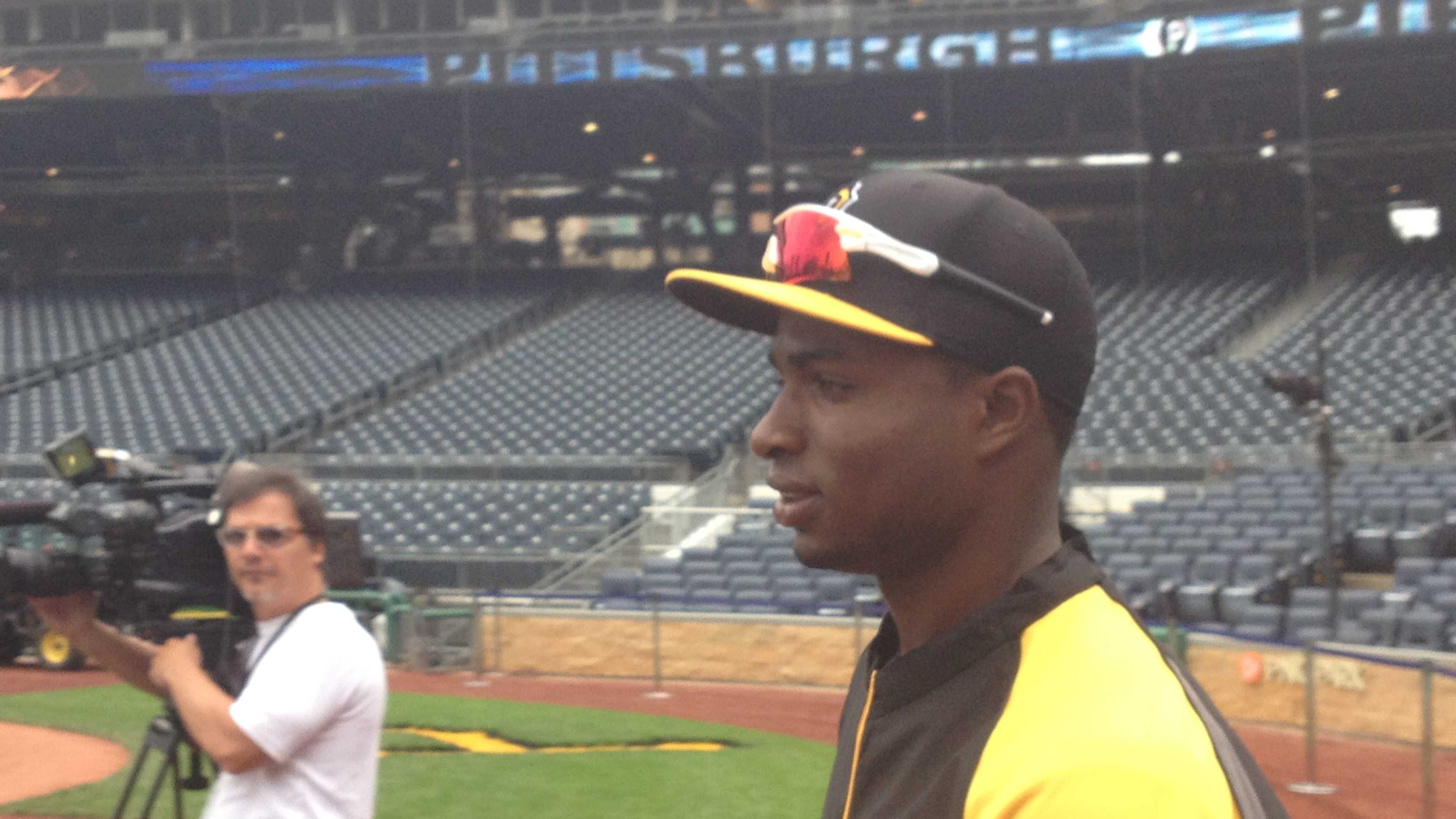 Gregory Polanco at batting practice.