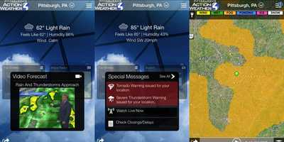 Now is the time to download the Pittsburgh's Action Weather App for free for iPhone and Android device!   From Severe Weather Alerts to School/Business Closings, it keeps you up to date with all things whether no matter when you go!