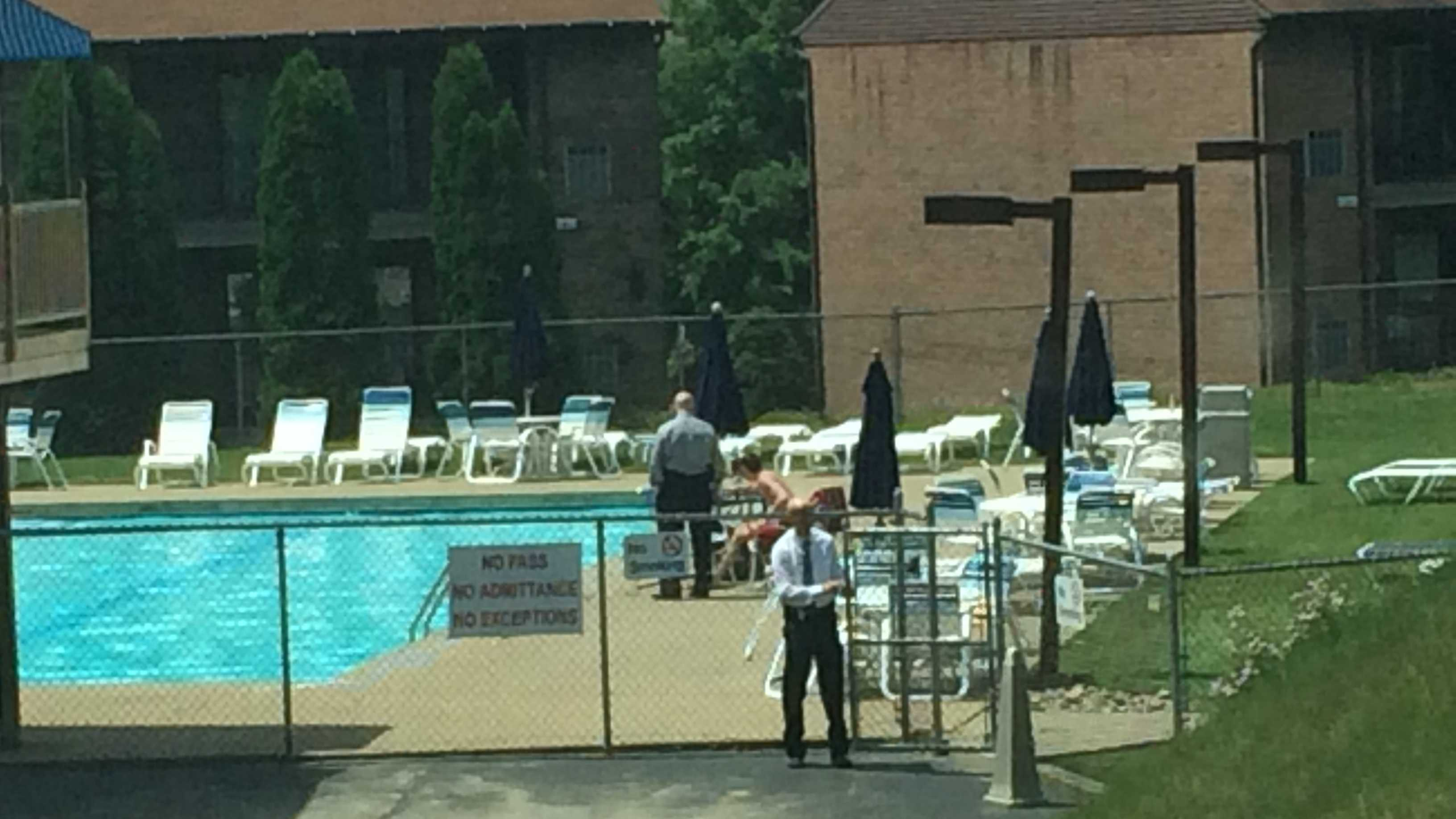 police at pool