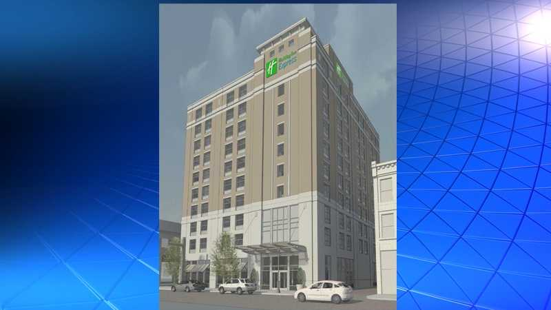 An artist's rendering of the future Holiday Inn Express & Suites on the North Shore.
