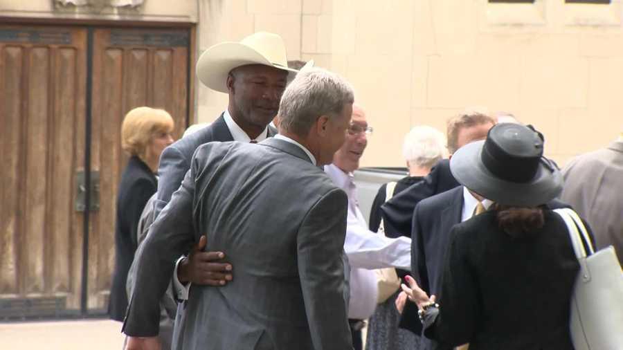 Former Steelers cornerback Mel Blount attended the funeral for Chuck Noll.