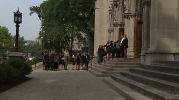 A funeral Mass for Chuck Noll was held at Saint Paul Cathedral in Oakland.