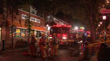 A lightning strike may have sparked a fire in the Potomac Avenue business district in Dormont.