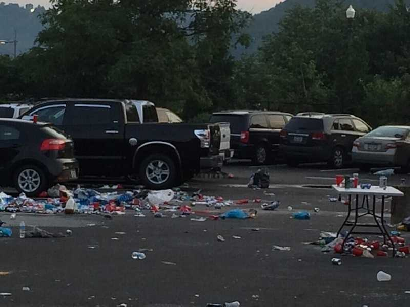One of the major concerns for the Luke Bryan concert was how much trash would be left in the tailgaters area&#x3B; would it be like Kenny Chesney aftermath. Pittsburgh's Action News 4's Brian Caldwell captures what was left behind.