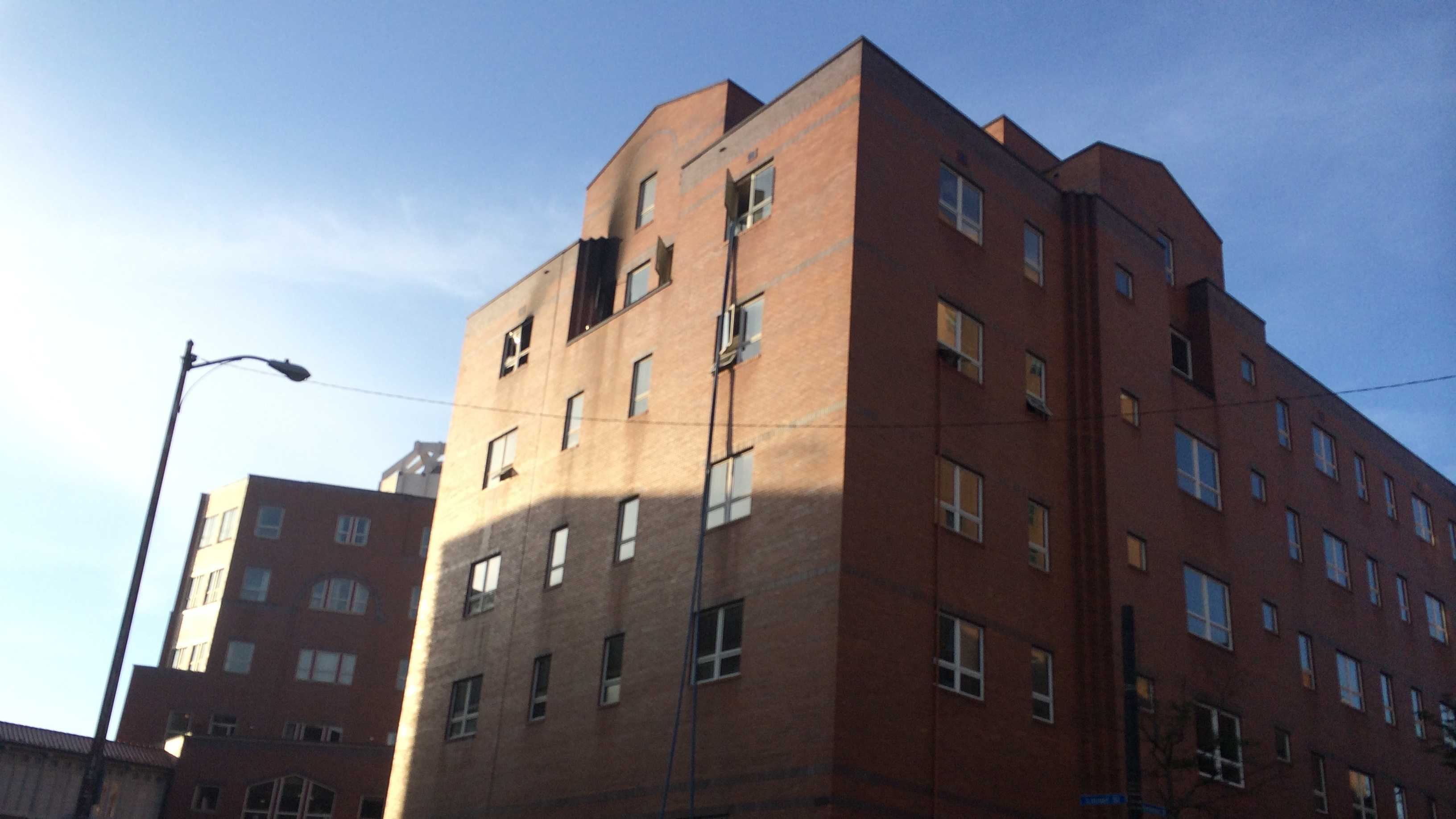 The fire occurred overnight in a building next to UPMC Mercy Hospital that houses medical offices.