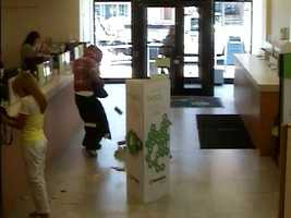 Surveillance image from a robbery at Huntington Bank on Brownsville Road in Carrick.