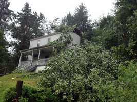 Pittsburgh's Action News 4 Photographer Dan Pratt captured this photos this morning of the damage in Crescent Township in Allegheny County from last night's severe storms.