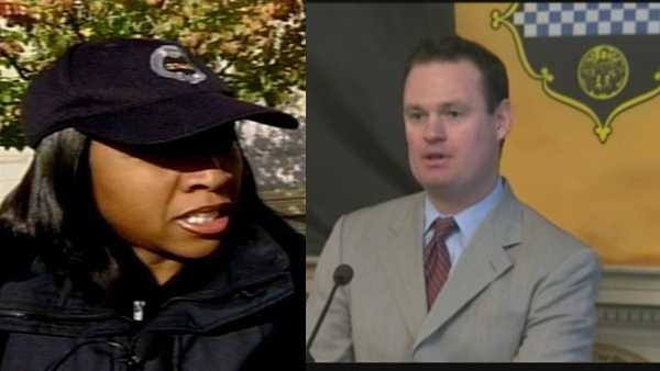 Tonya Montgomery-Ford (left), Luke Ravenstahl (right)